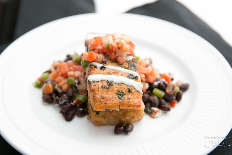 Plated Cilantro-Lime Salmon