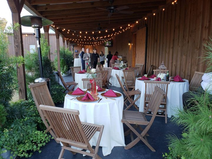 Reception setup at the patio