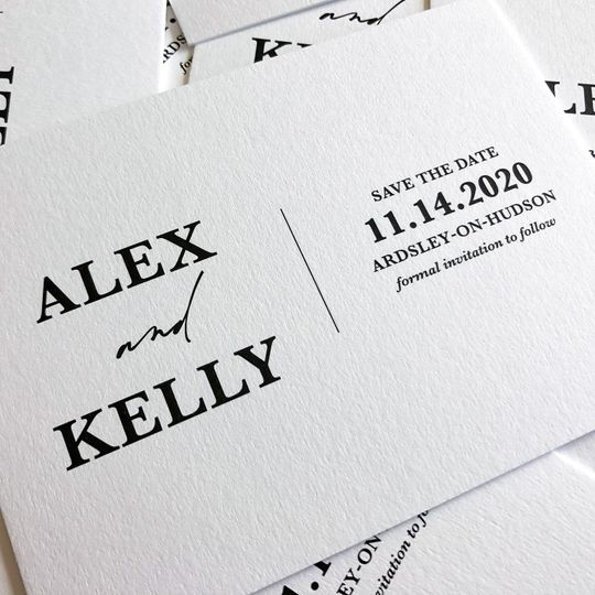 The charming save-the-date
