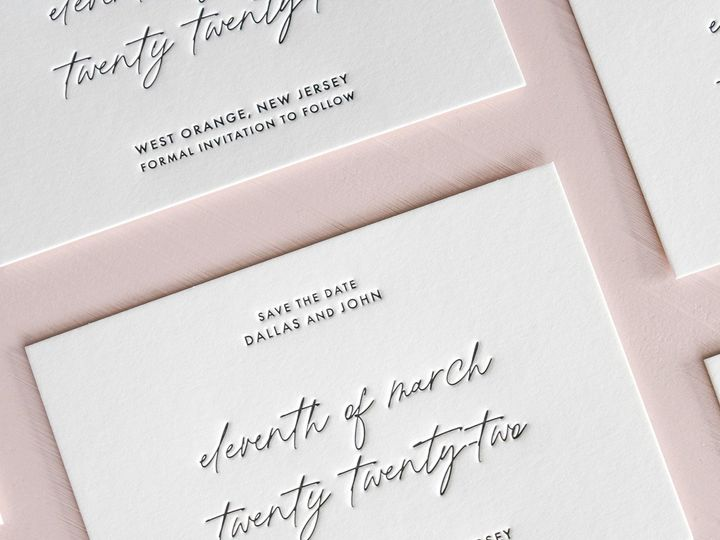 Tmx Papercrush Delicate Letterpress Wedding Save The Date Cards 51 1968449 162022525934695 Nashville, TN wedding invitation