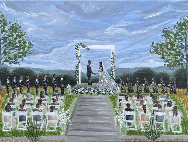 Refined Ceremony Live Painting