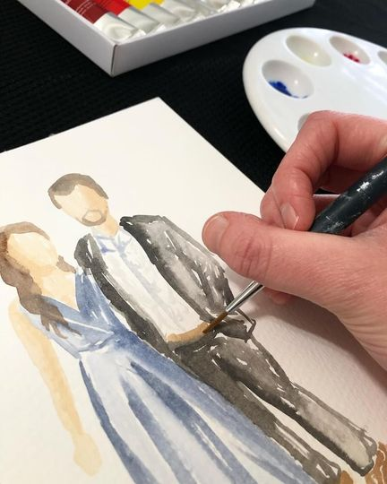 Live Guest Painting Close Up
