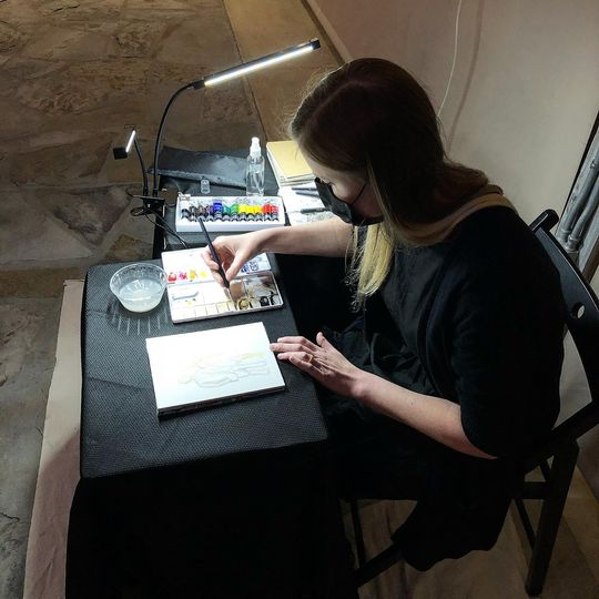 Live Guest Painting in Action