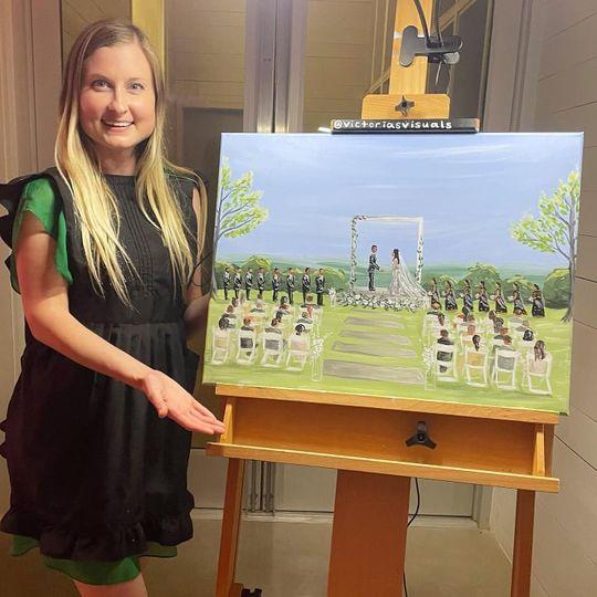 """Live Ceremony Painting 18""""x24"""""""