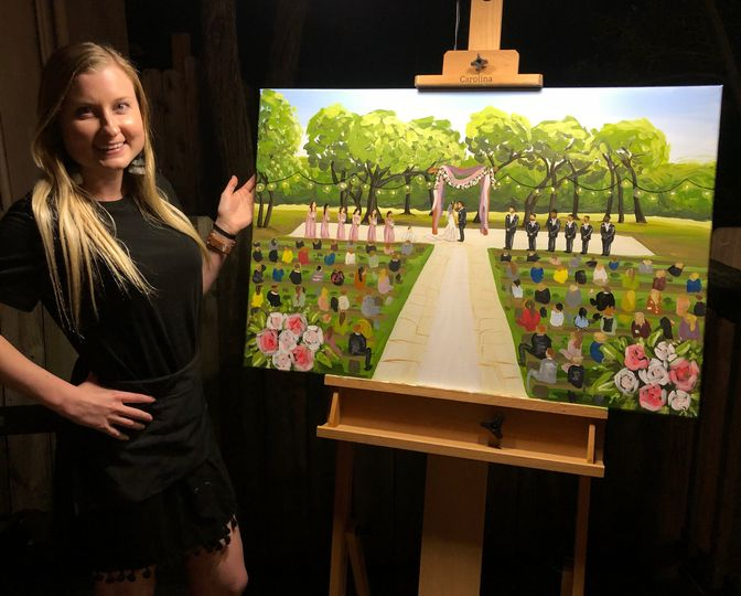 live wedding painting outside ceremony 51 1978449 161246405672014