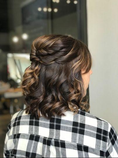 Gorgeous curled hair
