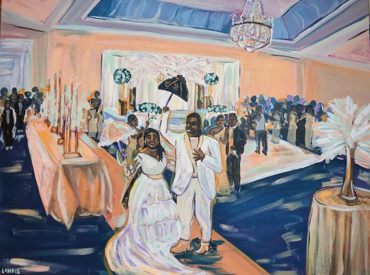New Orleans Wedding Painting