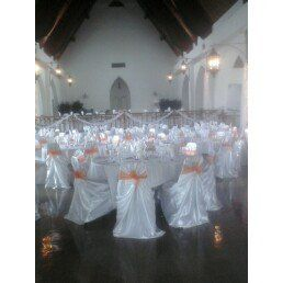 The Great Hall in the North Hills. Satin cover Special order sash.