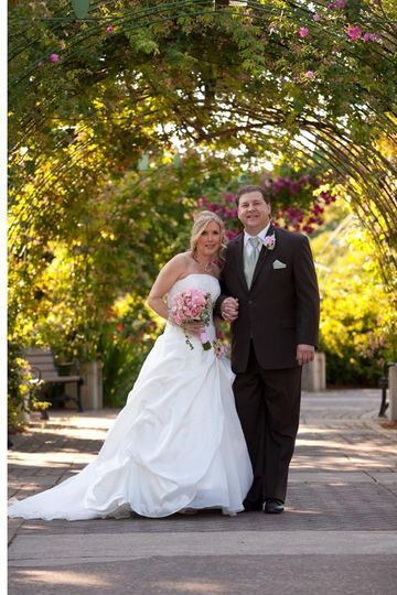 Happy Mr. & Mrs. under roses