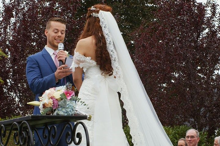 Capturing wedding vows
