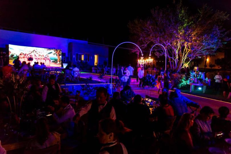 Night open air reception