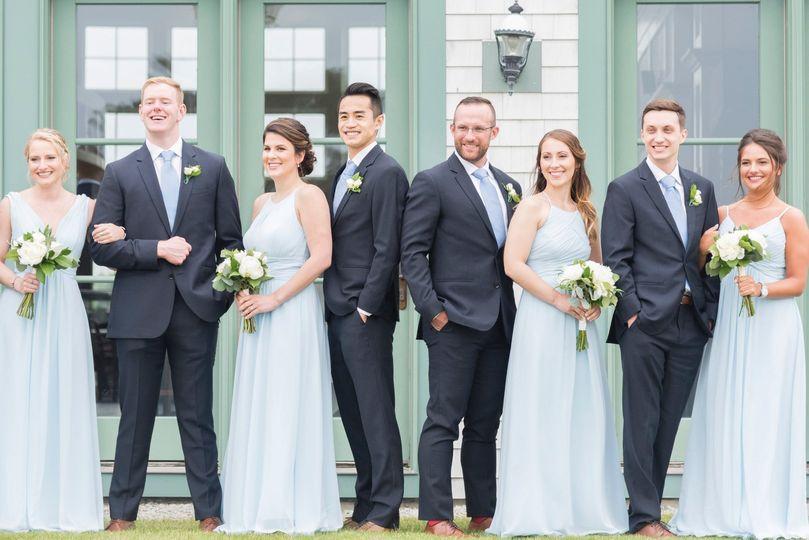 Bridal portraits blue