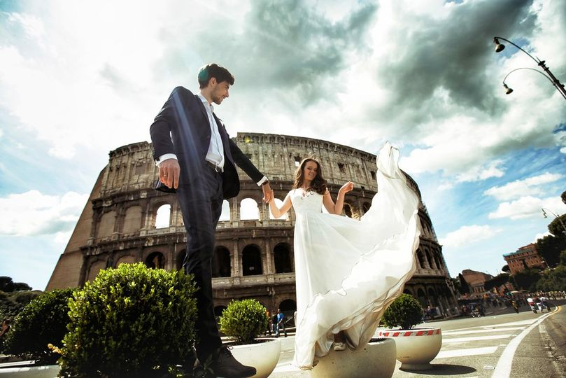 Bride and Groom in Rome