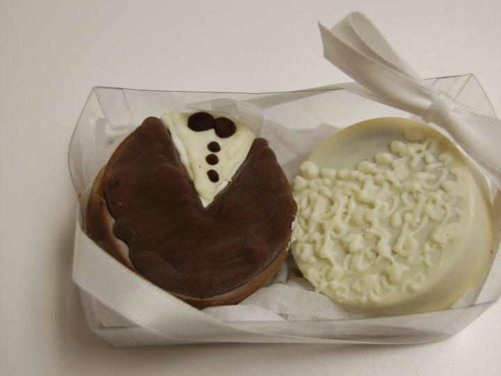 Tmx 1446570588924 Chocolate Covered Oreos In Box Mamaroneck wedding favor