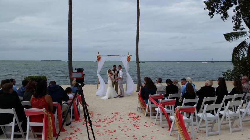 Wedding ceremony by the beach