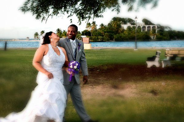 Beautiful Bride and Handsome Groom enjoying the moment.