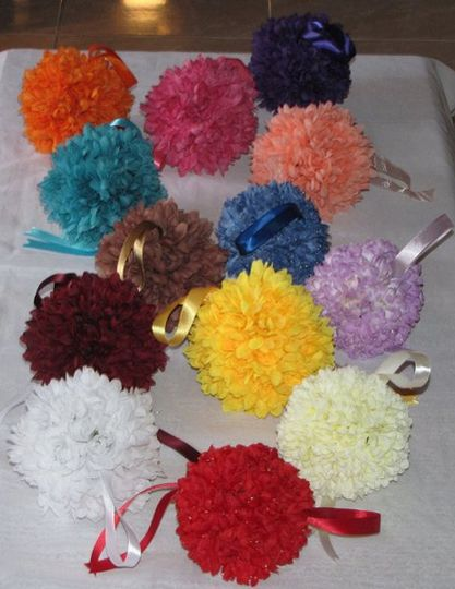 """You are buying one color, silk, MUMS """"Kissing Ball"""". I found these flowers and thought they would..."""