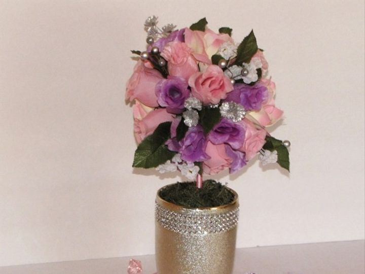 Tmx 1414171477852 7in Pinklavender Rose Topiary3 Tampa wedding florist
