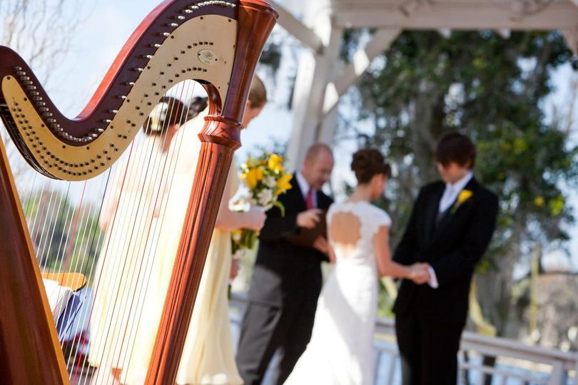 Harp at the wedding ceremony