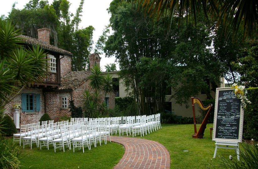 Casa Feliz wedding harpist
