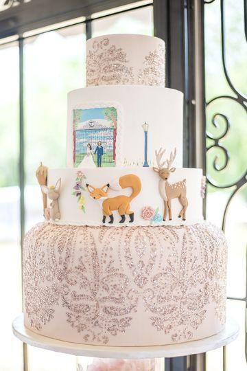 Illustrations used on cake.