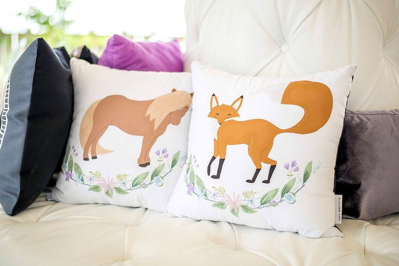 Reception pillow decor