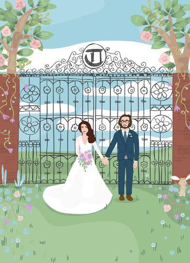 Wedding invite, front