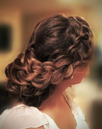 Bridal Trial full loose braided chignon