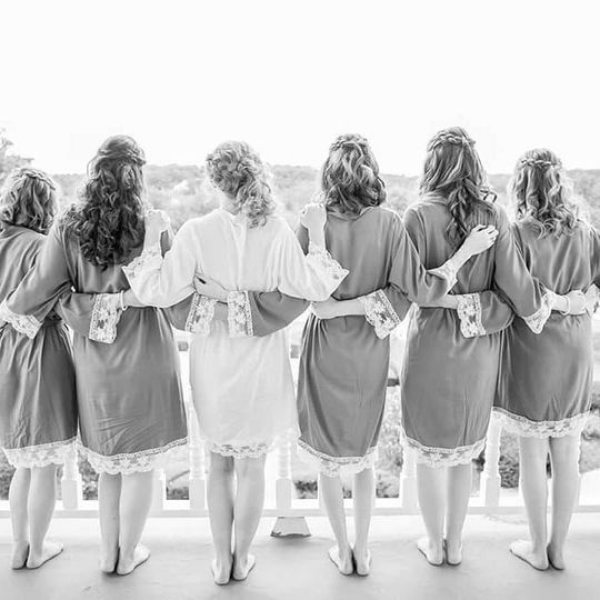 Bride and Her bridesmaids Hairstyles