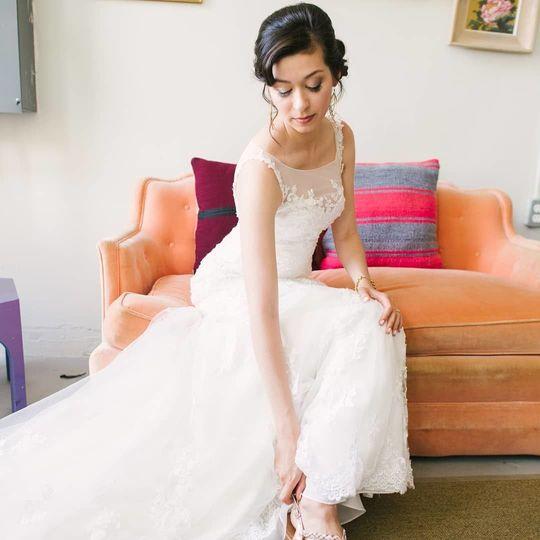 Brides photos on wedding day