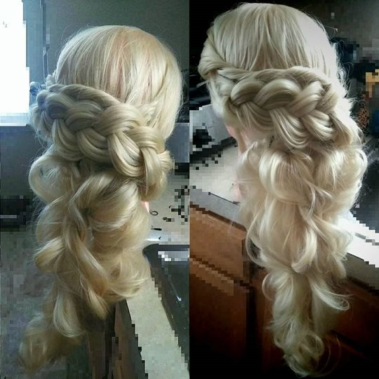 Combo Braid /Twist half up