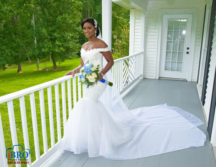 Custom Bridal Gown and Bouquet