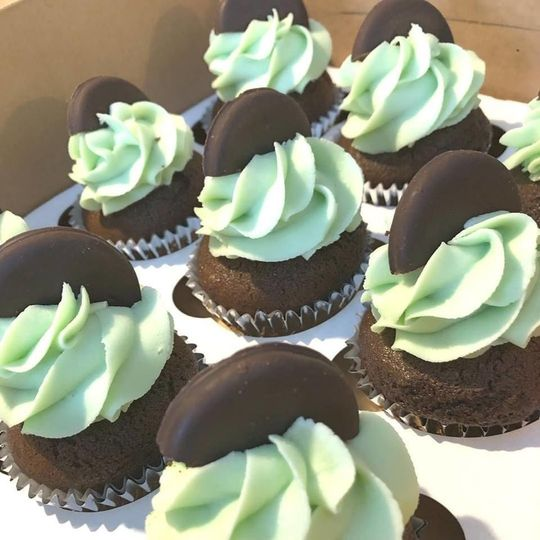 Vegan Thin Mint Cupcakes