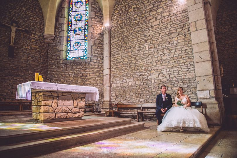 Couple in the church