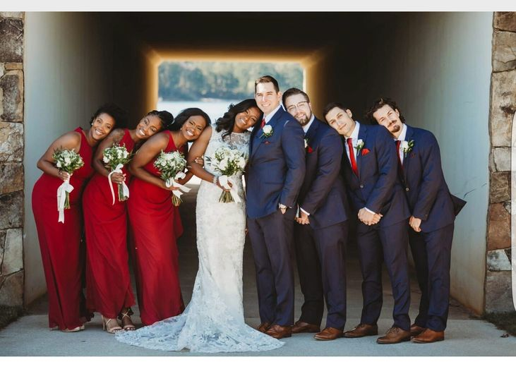 Sweet Couple and Bridal Party