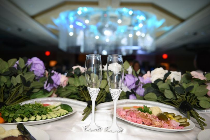 Elaborately decorated top table