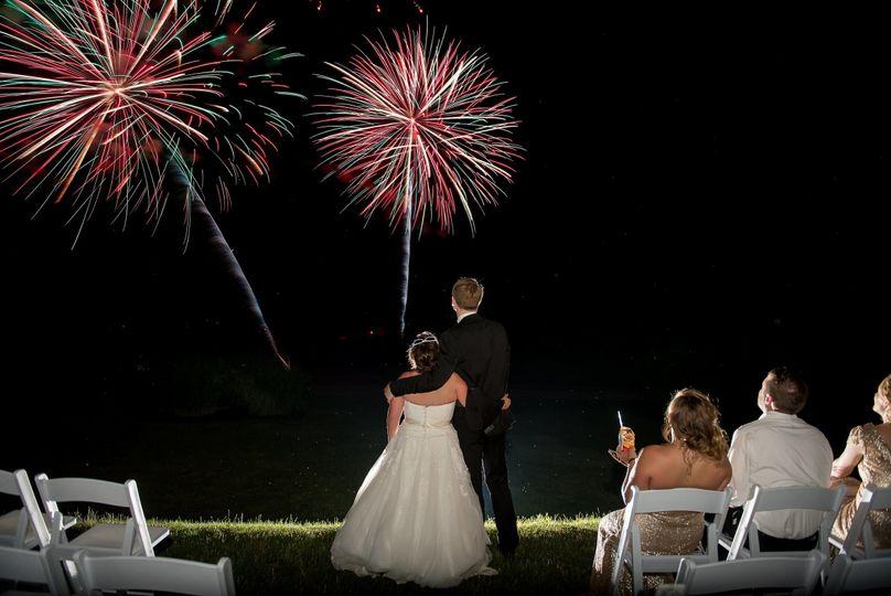 Fireworks over Pond