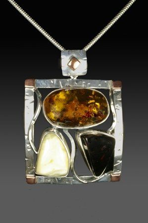 Incredible combinations of natural amber stones set in sterling silver