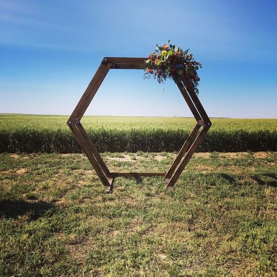 Hexagonal wedding arch