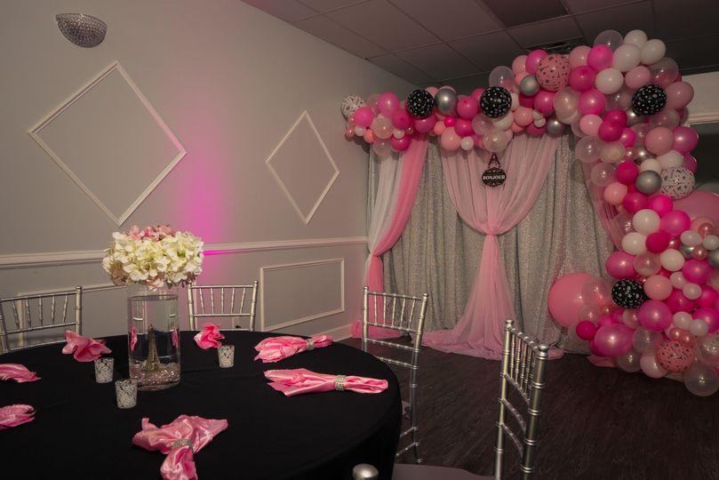 Pink decor setup