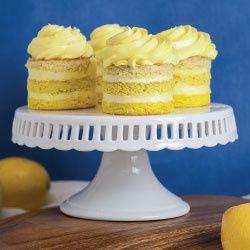 mini lemon ombre cakes 2