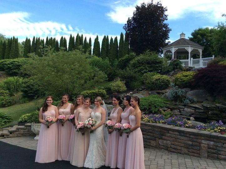 Brides maids at gazebo