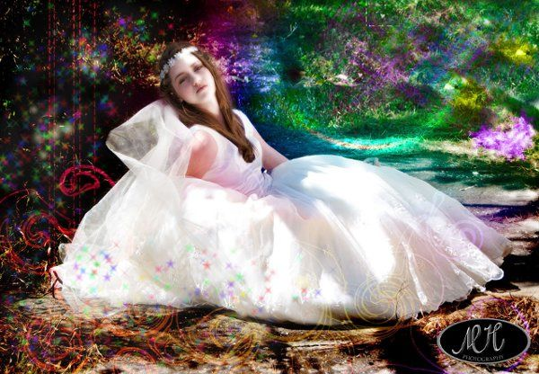 My model Anna in a wedding dress photoshoot.