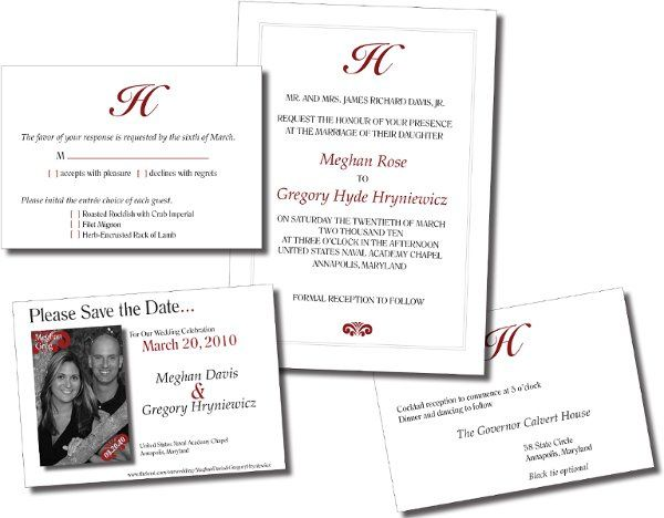 Elegant Wedding Set - The bride's goal was to have a simple design with an elegant feel. Letter...
