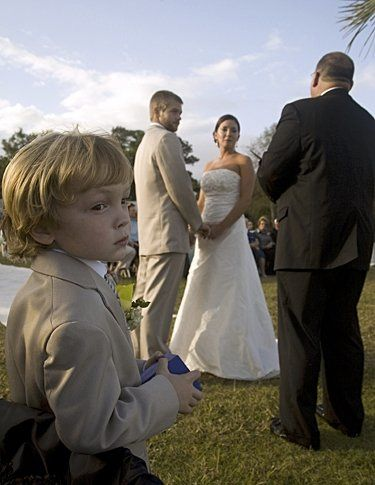 I caught the ring bearer daydreaming during the ceremony, but who could blame him in a location as...