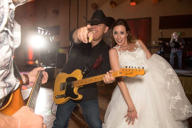 Having fun with the bride