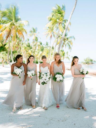 Beautiful bridal party makeup
