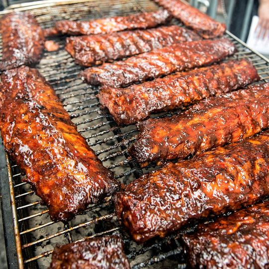 Flame kissed ribs