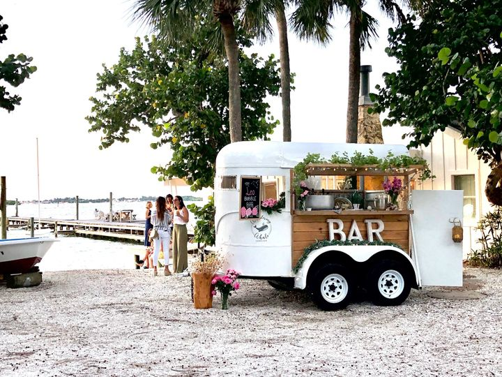 Trailer Mobile Bar on the beach