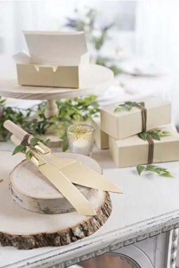Tmx Cake Cutting Set Wood And Gold 51 1054749 1572998014 Littleton, CO wedding rental